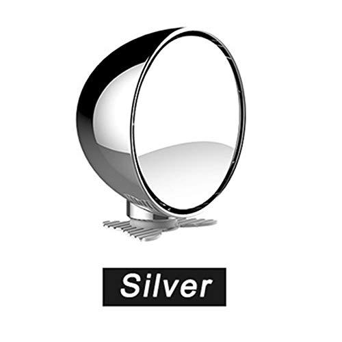 Xuping shop Multifunción de Coches Punto Ciego Espejo Amplio ángulo de Espejo Convexo Ajustable del Espejo retrovisor del Asiento Trasero del Coche de bebé Espejo (Color : Silver)