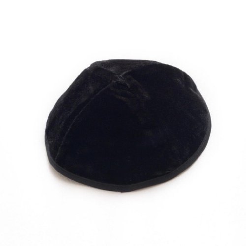 JL Kippha's Negro Kipá 20cm tamaño Judía Terciopelo Redondo Kipa Yarmulke Cubierta de la cabeza ISRAEL para synagogue
