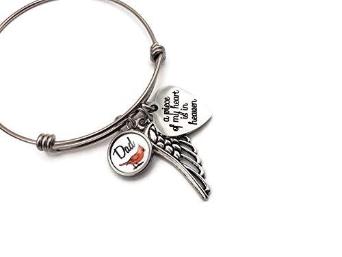 Guardian Angel wing child loss memorial keepsake gift Dad loss Remembarce jewelry Memorial bracelet Grandparent loss Grief jewelry