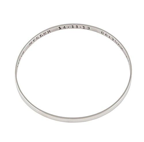 Personalisierter Zitat Armreif - Sterling Silber