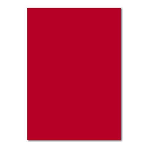 50x DIN A4 Papier Planobogen -Rosenrot - 110 g/m² - 21 x 29,7 cm - Bastelbogen Ton-Papier Fotokarton Bastel-Papier Ton-Karton - FarbenFroh®