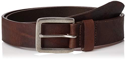 Jack & Jones NOS Jacvictor Leather Belt Noos Cintura, Marrone Black Coffee, 6 (Taglia Produttore: 90) Uomo