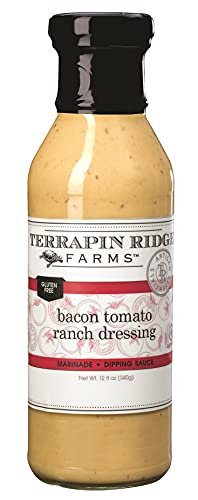 Terrapin Ridge Farms Bacon Tomato Ranch Dressing – One 12 Fluid Ounce Bottle