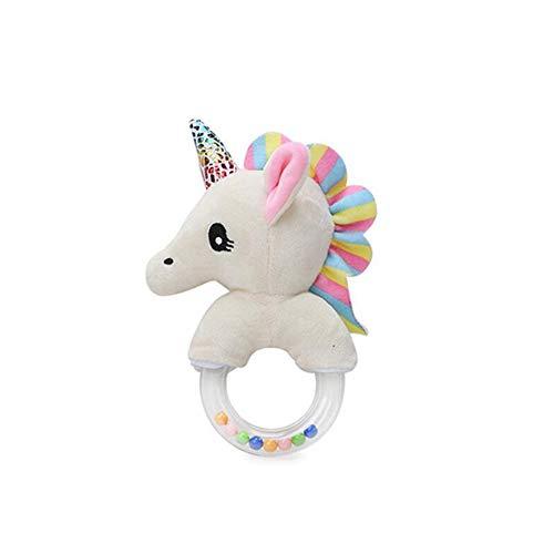 YiGo Muñeca de Juguete Suave del bebé del traqueteo de la Felpa del Animal Relleno de la Felpa Anillo Unicornio Lindo del bebé del traqueteo Educativo