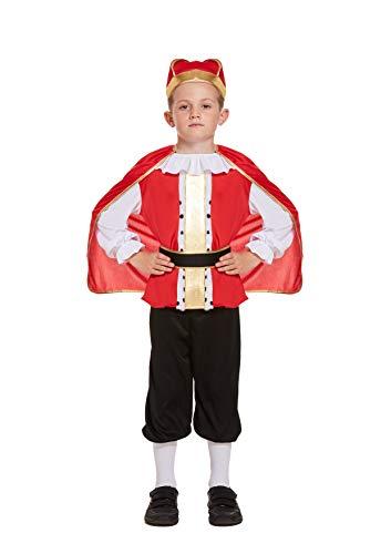 HENBRANDT Disfraces Hendbrandt Disfraz de Rey Medieval para niños de 10 a 12 años