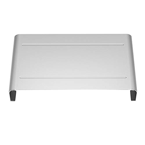 LHDDWY Aluminium Monitor Stand, Beugel Computer Monitor Stand Base, Anti-slip Screen Riser Houder Opslag Bureau voor Laptop Computer
