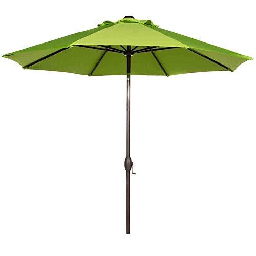 Abba Patio Sunbrella Patio Umbrella 9 Feet Outdoor Market Table Umbrella with Auto Tilt and Crank, Canvas Macaw
