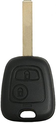 Liamgate Ersatz Schlüsselgehäuse-mit-Rohling geeignet für Peugeot-307-Schlüssel-mit-2-Tasten