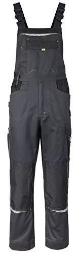 Stenso Prisma - Herren Arbeitslatzhose mit Multifunktions/Kniepolster-Taschen - Grau mit Elasthan EU60