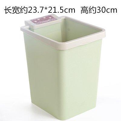 MMXXAIWWAA Große Küche WC mit Druckring Mülleimer Haus Platz Smiley Plastikmüll Wohnzimmer Badezimmer Papierkorb, grün
