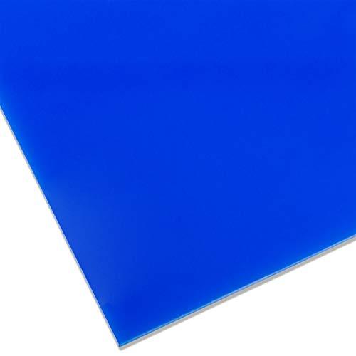 PLEXIGLAS® GS farbig, vielfältig nutzbares und bruchfestes Marken Acrylglas für Lichtobjekte etc, 3 mm dicke PLEXIGLAS® GS Platte in 25 x 50 cm, blau transluzent (5H48)