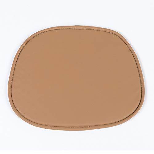 SKLUM Cojín para Silla Scand en Polipiel Polipiel Marrón Caramelo - (Elige Color)