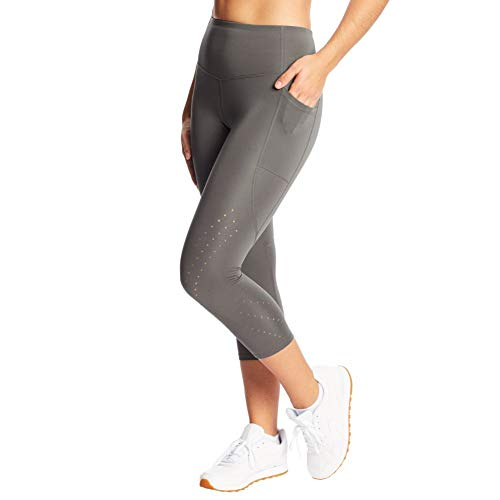 C9 Champion Women's Sculpt Lasercut Capri Legging, Echo Gray, XXL