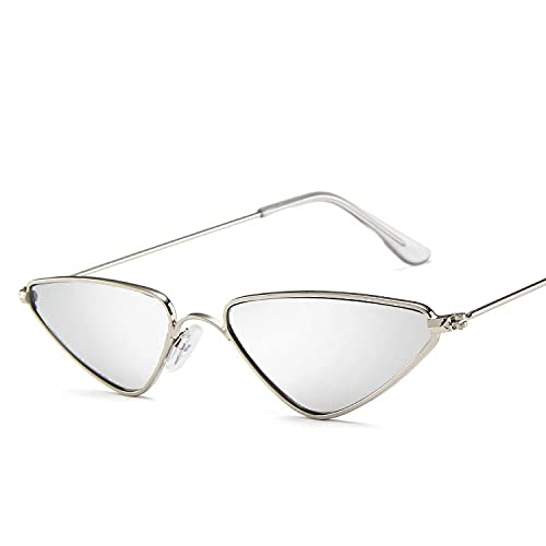 AMFG Gafas de sol de ojo de gato Gafas de sol Triángulo Tendencia Pequeño Marco Gafas Metal Metal Gafas de sol (Color : F)