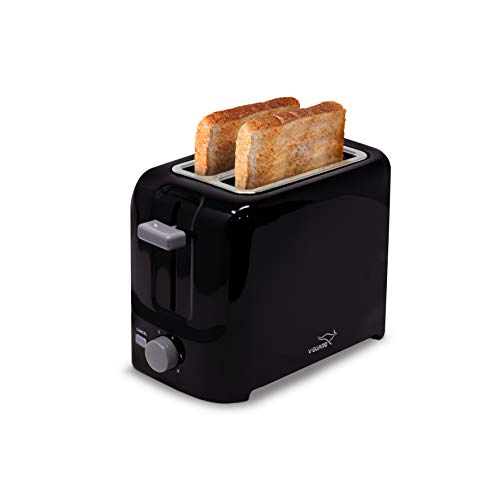 V-Guard VT210 2 Slice Pop-Up Toaster with Removable Crumb Collection Tray (800 Watts, Black)