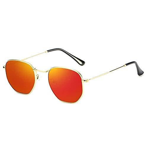 DKee Gafas de Sol Protección UV Unisex HD Ultra-Delgado Ultraligero Gafas De Sol Deportes Al Aire Libre Conducción Marco De Metal Playa Viajes UV400 for Hombres/Mujeres (Color : Orange)