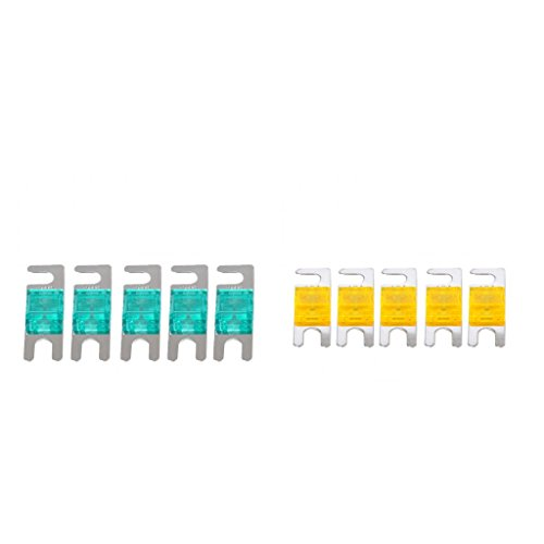 perfk 10 STK. / Set Stromsicherungen Mini ANL Sicherung (40 AMP und 30 AMP) 12V / 24V / 32V Auto, Boot, LKW-Audiosystem