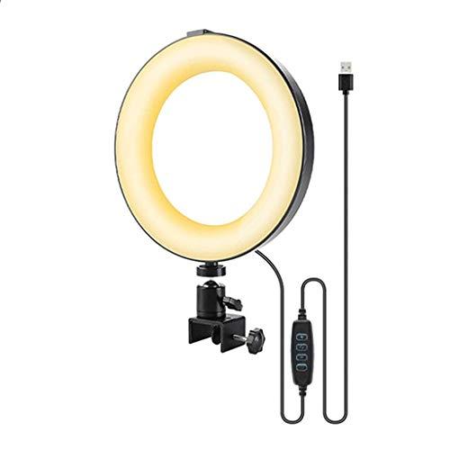 WYHM Escritorio 6'' Luz de Anillo para Computadora, Videoconferencia Dimmable Circle LED Lights con Clip Laptop Cámara Luces para Reuniones Universal (tamaño : 6in Lamp)