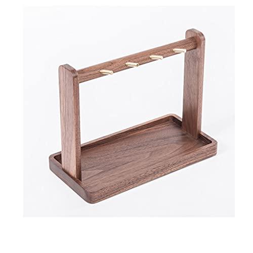 SHYPT Walnut Colgando Key Rack Porche Llavero Adornos Almacenamiento Escritorio Caja de Almacenamiento Puerta Puerta de Almacenamiento de Madera Maciza Bandeja