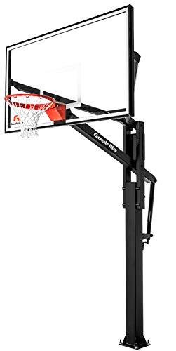 Goalrilla FT72 Basketball Hoop with Tempered Glass Backboard, Black...