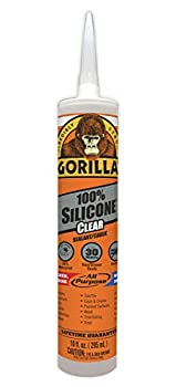 Gorilla 8050002 10 Ounce Cartridge Clear Silicone Sealant 1-Pack
