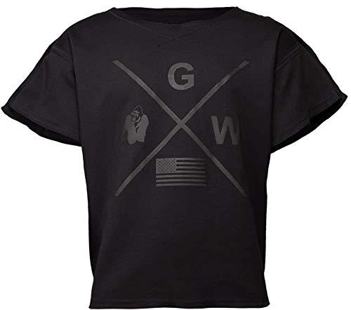 GORILLA WEAR Sheldon Work Out Top - Bodybuilding und Fitness Bekleidung Herren, schwarz, L/XL