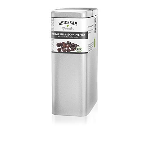 Schwarzer Pfeffer ganz, 400g in Premium Bio Qualität, für die Mühle geeignet