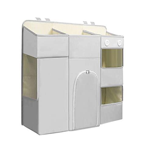 LJJOO Bolsa de almacenamiento de ropa de cama de tela Oxford, bolsa de almacenamiento Caddy colgada, adecuado para habitaciones de dormitorio con literas, rieles de cama, cama para bebé Cajas para pañ