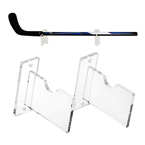 Soporte de exhibición de palo de hockey, soporte de montaje en pared de acrílico duradero, soporte de palos de golf, soporte de hockey sobre hielo, transparente