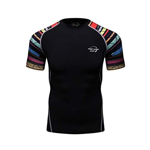 WENHUI Sports Fitness T-Shirt T-Shirt à Manches Courtes Imprimé T-Shirt à Manches Courtes pour Hommes G-M