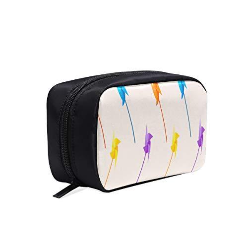Trousse de toilette pour enfants Fun Windmill Animation Toy Four Leaf Toddler Makeup Bag Cosmetic Travel Bag Organizer Fashion Men Bag Cosmetic Bags Multifunction Case Womens Fashion Travel Bag