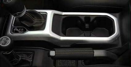 RT-TCZ Silver ABS Four-Wheel Drive Gear Shift Panel Trim for 2018-2020 Jeep Wrangler JL JLU