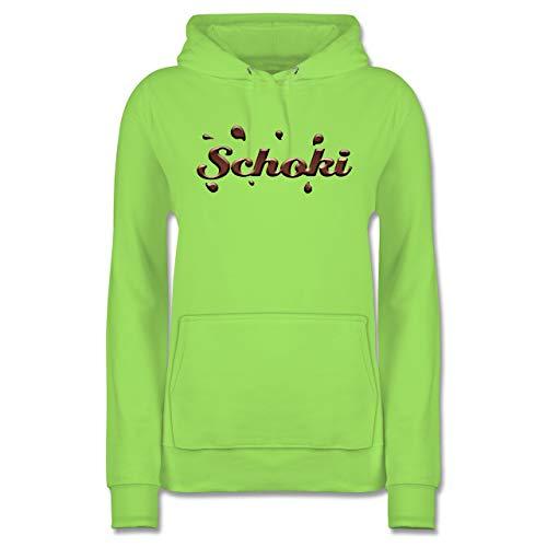 Karneval & Fasching - Schoki & Milky Schoko - XS - Limonengrün - Fun - JH001F - Damen Hoodie und Kapuzenpullover für Frauen
