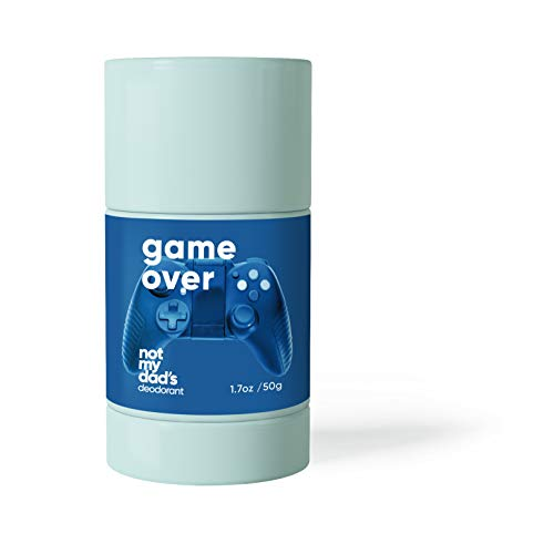 Not My Dad's Aluminum Free Deodorant for Boys and Men (Game Over: Clean Spice) Natural Odor Fighting Power