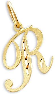 Sonia Jewels 14k Yellow Gold Initial Letter R Pendant