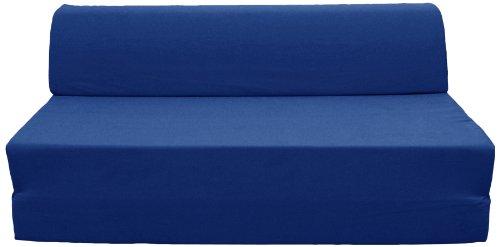 Pole JASPEB1Q2054 Ghost Banquette/Chauffeuse Convertible Mousse Coton Bleu Sicile 126 x 75 x 52 cm