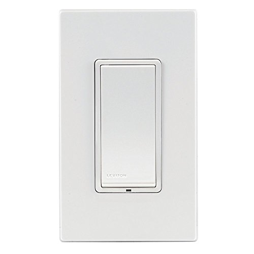 Leviton DZS15-1BZ Decora Z-Wave Controls 15-Amp Scene Capable Switch, White/Ivory/Light Almond, Works with Amazon Alexa (Old Model)