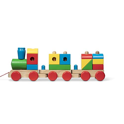 Melissa & Doug 40544 Jumbo Stacking Train Classic   Building & Vehicles   Wooden Toy   2+   Gift for Boy or Girl