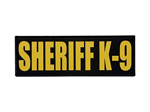 TIMTAC Large 8.5x3 inch Yellow Police Sheriff K9 Patch (8.5x3 inch, Yellow)
