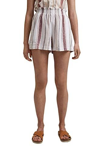 edc by ESPRIT Damen 061CC1C304 Shorts, Off White 2 (111), 38