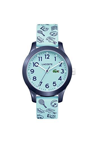 Relógio infantil Lacoste TR90 de quartzo com pulseira de borracha, azul, 14 (modelo: 2030013)