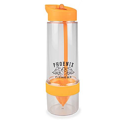 Phoenix Fitness Bouteille d'eau infuseur de fruits 650 ml - Infusée de fruits à saveur naturelle - Étanche avec tige d'infusion pleine longueur