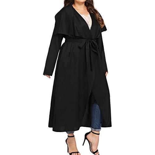 YinGTral Fashion Women Lässige Warmherzige Feste Bandage Unregelmäßige Lose Outwear Mantel