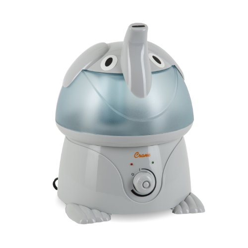 Crane Adorables Ultrasonic Cool Mist Humidifier, Filter Free, 1 Gallon, 24 Hour Run Time, Whisper Quite, for Home Bedroom Baby Nursery and Office, Elephant
