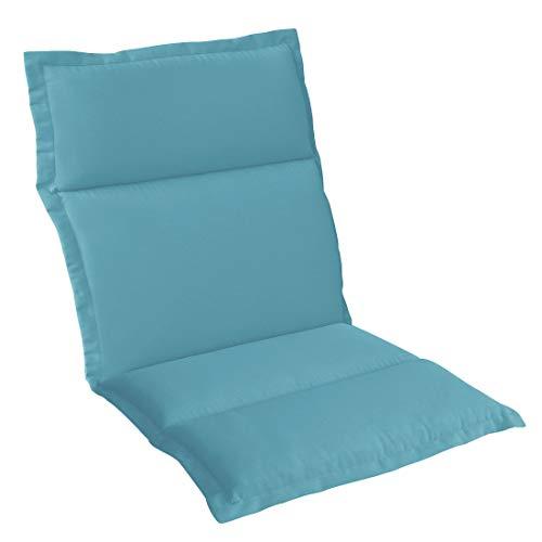 OUTLIV. Polsterauflage Stapelsessel-Auflage Sitz- Rückenkissen 98x50x5 cm Hellblau Sitzauflage für Gartensessel und Gartenstuhl