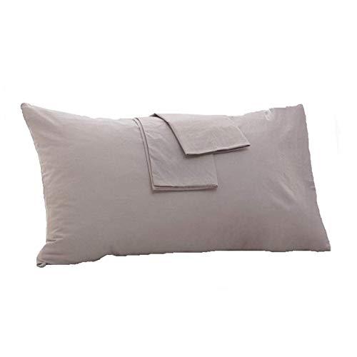 Vommpe - Funda de Almohada de 40 x 60 cm, 100% algodón antiácaros, tamaños, Apta para familias, hoteles, Protector de Almohada (40 x 60 cm), Color Rosa, Gris Plateado, 50x90cm