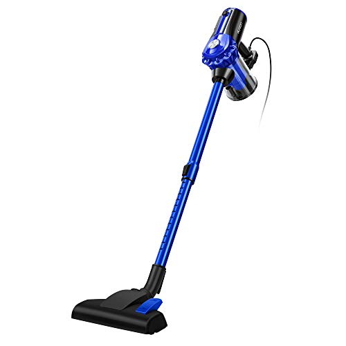 Elezon E600 Stick Corded Bagless Vacuum Cleaner,17KPa Powerful Suction,Handheld Vacuum for Hardwood Floor and Tile,Blue
