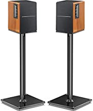 Perlegear Universal Speaker Stand- Bookshelf Speaker Stands Holds 22lbs Speaker Stand Pair with Cable Management Surround Sound Speaker Stand- PGSS6