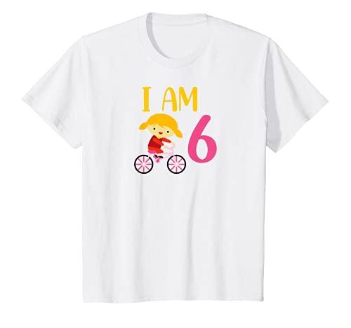 Niños Bicicleta para niña, 6 años, 6 años, cumpleaños Camiseta