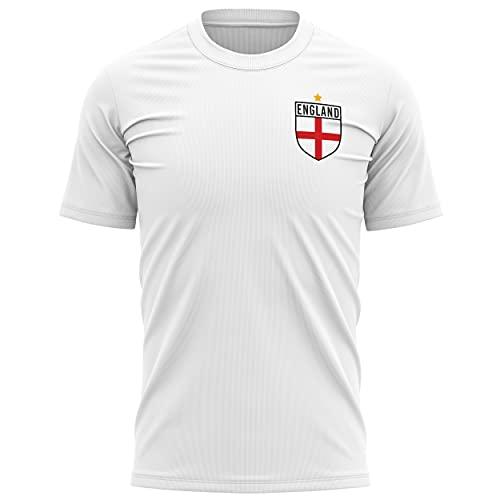 England Shirts for Men - England Flag Badge Retro T Shirt - Football...